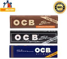 OCB VIRGIN SLIM PREMIUM SLIM ULTIMATE SLIM + TIPS KING SIZE ROLLING PAPERS