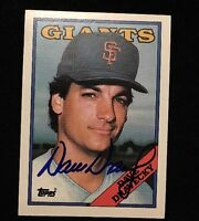DAVE DRAVECKY 1988 TOPPS Autograph Signed AUTO Baseball Card 68 PADRES