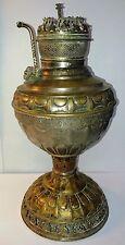 Antique Rare 19th CenT  Brass Miller The Empress No 2 Kerosene Oil Lamp embossed