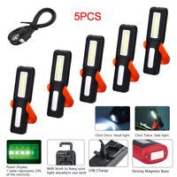 COB LED Arbeitsleuchte Taschenlampe Stablampe USB Wiederaufladbar Handlampe Akku