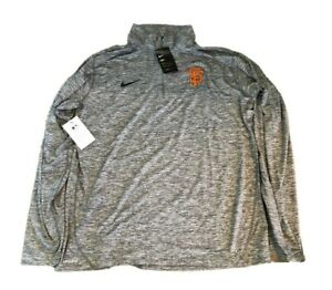 NWT New San Francisco Giants Nike Dri-Fit Element 1/2 Zip XXL Performance Jacket