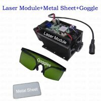 450nm 15W Blue Laser Module With Heatsink For Laser Cutter Engraver+metal sheet