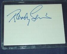 Indy Car Driver Randy Lewis Hand Signed Index Card