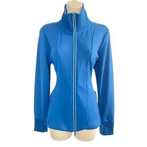 NEW Athleta Shanti Salutation Jacket Blue - Size M - Slim Fit - Fleece Inside
