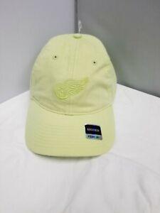 Detroit Red Wings NHL Reebok Adult Women's Lime Green Curved Brim Cap/Hat OSFM