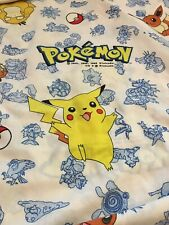 Pokemon Pikachu Fitted Sheet Vintage 1998 Nintendo TWIN And Matching Curtains