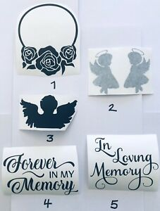 Memorial Funeral Vinyl Decal Stickers In Loving Memory Angels Decor Walls Glass