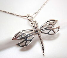 Dragonfly Split Wing Pendant 925 Sterling Silver Corona Sun Jewelry cottage lake