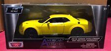 1/24 2018 Dodge Challenger SRT HELLCAT Yellow Diecast Car By MOTORMAX 79350