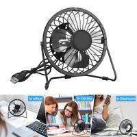 Portable USB Desktop Fan Mini Desk Fan Small Quiet Personal Cooler USB Powered