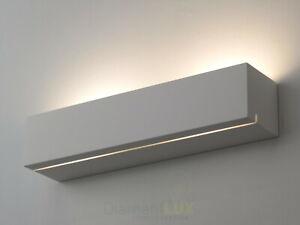 applique led interno bagno moderno moderna design lampada da parete verniciabile