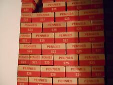 10 Empty Boxes for Pennies, in Good Condition, Cool, Collectible. Holiday Gift?