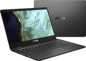 "ASUS - 14.0"" HD Chromebook (Celeron N3350, 4G, 32G eMMC) C423NA-BCLN5 Grey"