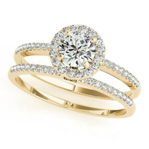 0.70 Ct Moissanite Round Cut Yellow Gold Valentine Ring 18K Solitaire Girl ring
