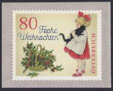"""3442 Österreich Weihnachten 2018  """" - Vintage - Mädchen mit Katze """"  sk   **"""