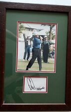 Lee Trevino signed 8 x 10 framed photo, Legends in sports