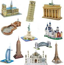 3d PUZZLE PUERTA DE BRANDENBURGO Torre Eiffel Basílica de San Pedro