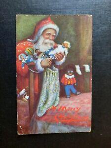 Father Christmas Gifting Toys Tuck 1906 Postcard