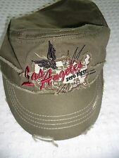 Men's One Size Khaki Green Distressed Los Angeles  Zero Three I'M TD Ball Cap