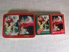 Vintage Coca Cola Holiday Playing Cards in Collectors Tin 1996
