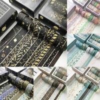 10Rolls Washi Tape Decorative Scrapbooking Paper Adhesive DIY Sticker Craft