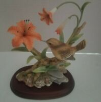 "Vtg HOMCO Masterpiece Field Wren ""Birds of Season"" Collection Porcelain Figurine"
