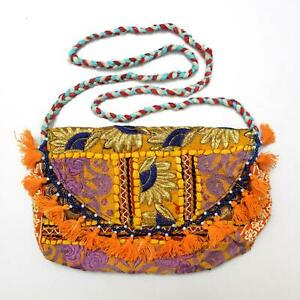 Vintage Tribal Banjara Indian Handmade Ethnic Women Fashionable Hobo Clutch Bag
