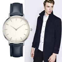 Women Mens Watch Casual Simple Quartz Analog Faux Leather Band Wrist Watches New