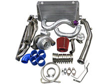 CXRacing Top Mount GT35 Turbo Kit Manifold Downpipe Intercooler 92-98 BMW E36-BL