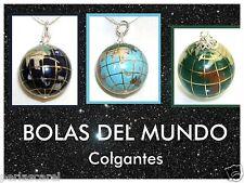 3 COLGANTES BOLA del MUNDO 20 mm fondo mar Lapilazuli, Turquesa y Malaquita *3*