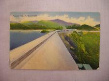 VINTAGE LINEN POSTCARD FONTANA DAM ON LITTLE TENNESSEE RIVER NORTH CAROLINA 1951