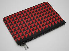 Proenza Schouler-Triangle imprimé Cuir Petite Pochette/Clutch Noir/Rouge Nouveau