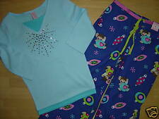 NWT Limited Too 2 Pc Outfit Holiday PJ Top 7 & Monkey Pajama Pants 6 Set