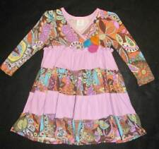 New Everyday Toddler Girls Baby Nay Purple Vintage Paisley Long Sleeve Dress 2T