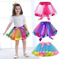New Children Kids Girls Tutu Skirt Princess Party Dance Tulle Skirt Mini Dress