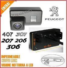 RETROCAMERA PARCHEGGIO LUCE TARGA LED *NoDOGANA* PEUGEOT 206 207 306 307 407