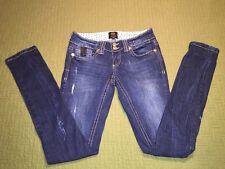 River Island Women's Skinny Jeans Dark Distressed US Size 2 UK 6L EUR 32L EUC!