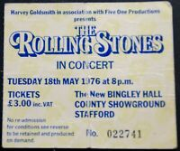 The Rolling Stones Ticket Black And Blue Tour Bingley 1976 #1