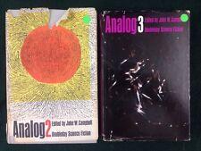 John W Campbell ANALOG 2 & 3 Sci Fi Hardcover Anthology Books