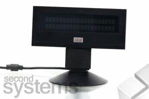 Wincor Nixdorf BA63-1 Customer Display Black/Serial Incl. Stand