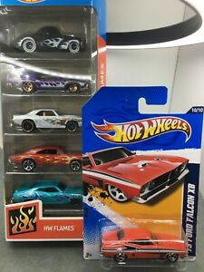 Hot Wheels * 1973 XB Ford Falcon Coupe & Falcon 5 pack Flamed Exclusive* 1:64