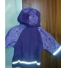 Children's Waterproof Coat Jacket Hooded Fleece purple Baby/girl 12-24 Cheapest!