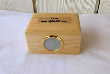 Small Wood Pet Cremation Picture Urn with Brass Plaque