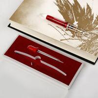 Moonman M2 Transparent  Fountain Sheet Metal Pen Extra Fine Nib for Birthday Gif