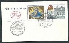 1987 ITALIA FDC CAVALLINO ARTE ITALIANA NO TIMBRO ARRIVO - CV1987