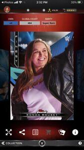 Topps WWE Slam *Digital* 2021 Finest Decades Best Debuts - Ronda Rousey 484cc