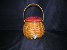 2004 Longaberger Pasadena Tournament of Roses Basket W/ Protector Liner Tie on