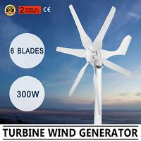 Max 350W 6 Blade DC 12V Horizontal Wind Turbine Generator Windmill Controller AU