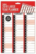 2018 Year A1 Size Large Flat Wall Planner Calendar Family Office Organiser 2018