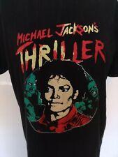 Men's Black T-shirt Top Michael Jackson Print Thriller Size M Medium Blogger